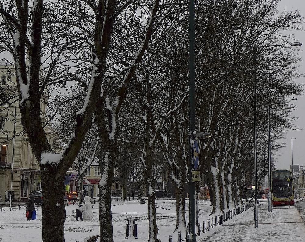 Palmeira, Bus and Snowman