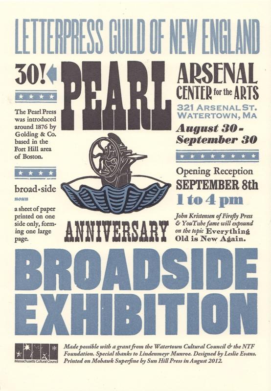 30th Anniversary Broadside Exhibit