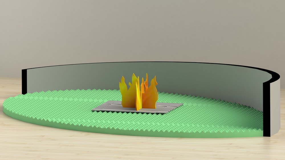 Hey, your memory foam is on fire.,  virtual sculpture, 2019