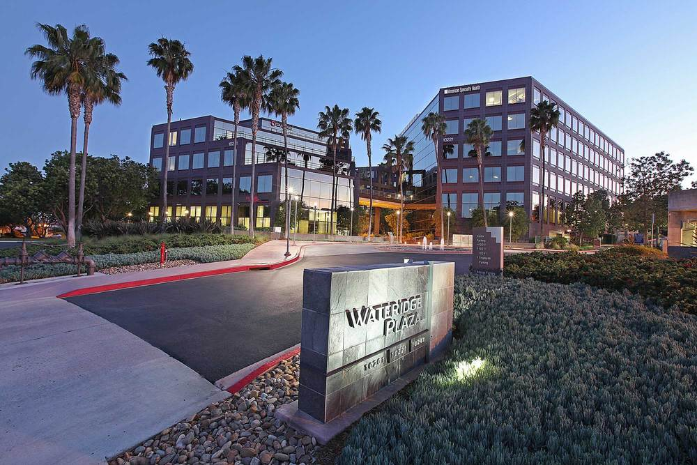 ​Wateridge Corporate Park, one of San Diego's first business parks to include a residential element, is a 125-acre community master planned as a unique mixed-use corporate environment. Wateridge exudes preeminent corporate identity and offers a select headquarters location for high-tech and bio-medical firms. Wateridge's build-out of over 2.3 million square feet of space gives testament to the success of the park's pioneering master plan.