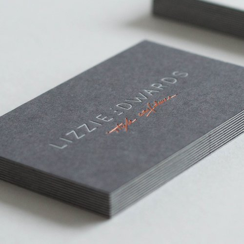 Dot studio business cards printed for lizzie edwards printed by dot studio colourmoves