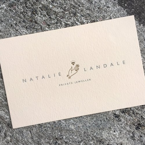Dot studio two colour foil blocking business cards printed on vellum white colorplan nbsp texture nbsp reheart Gallery