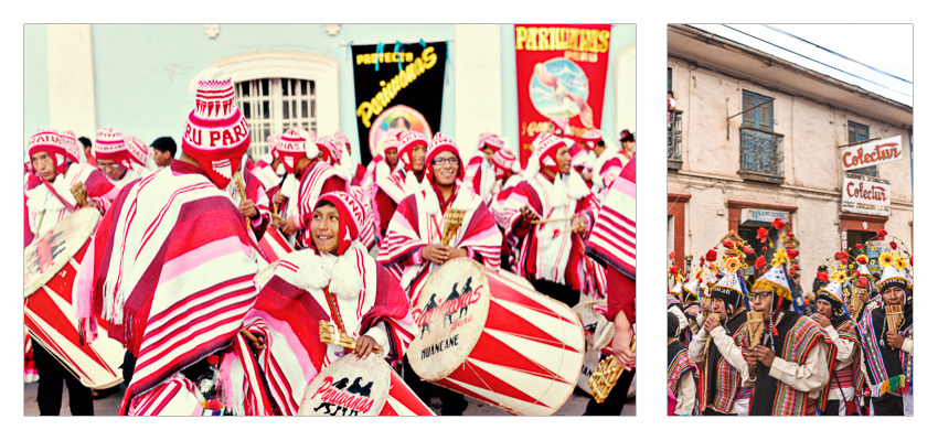 A massive festival took place in Puno. Thousands of people and seemingly even more costumes.