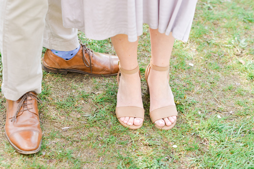 Engagement session shoes