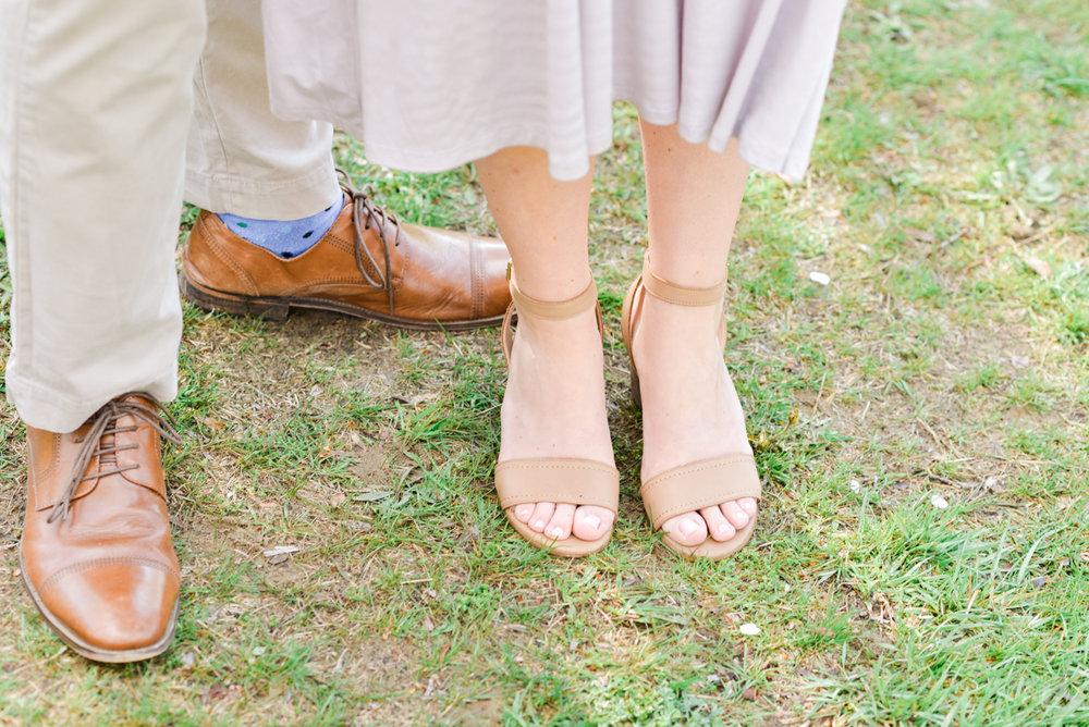 Engagement session shoes