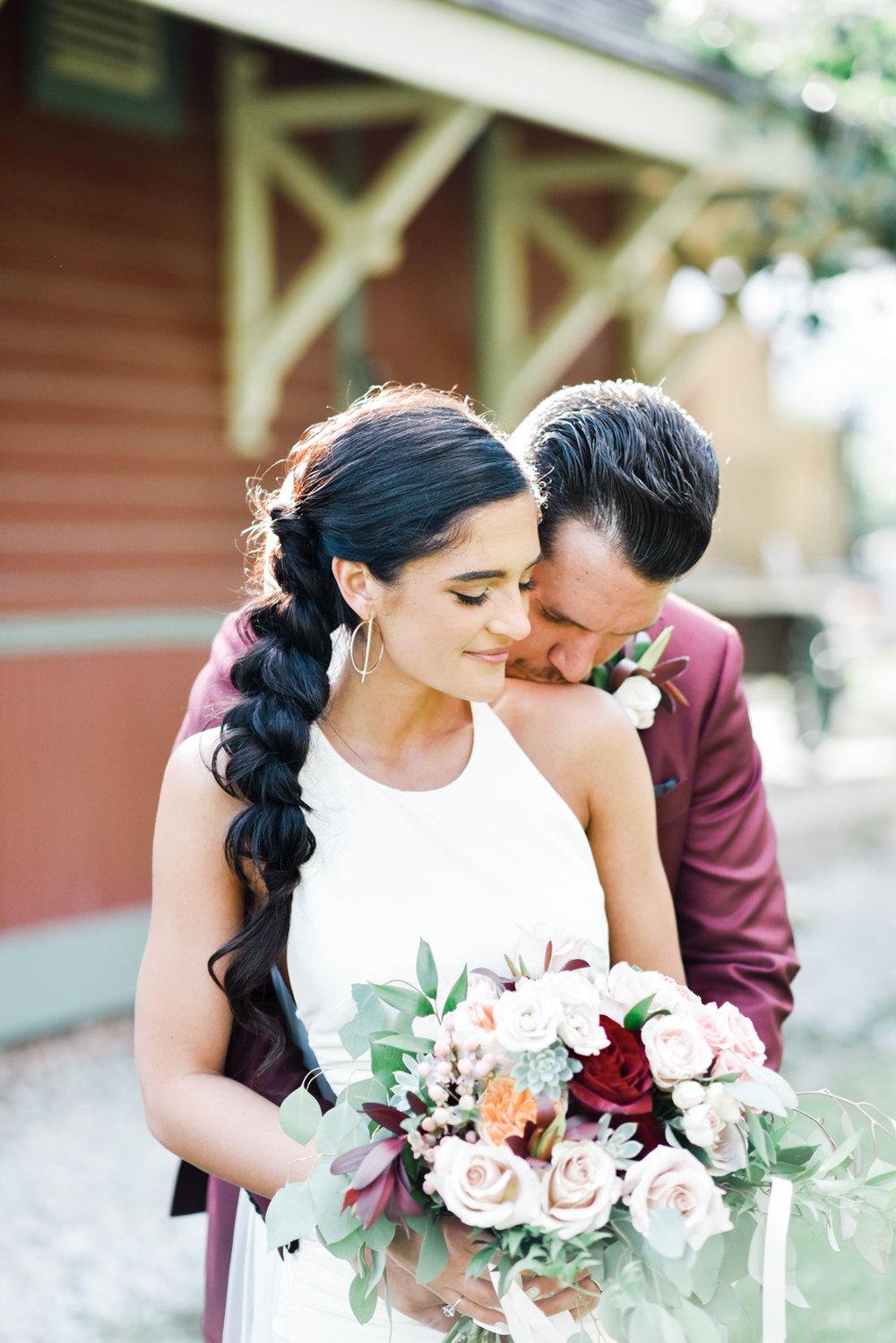 Summer burgundy bride