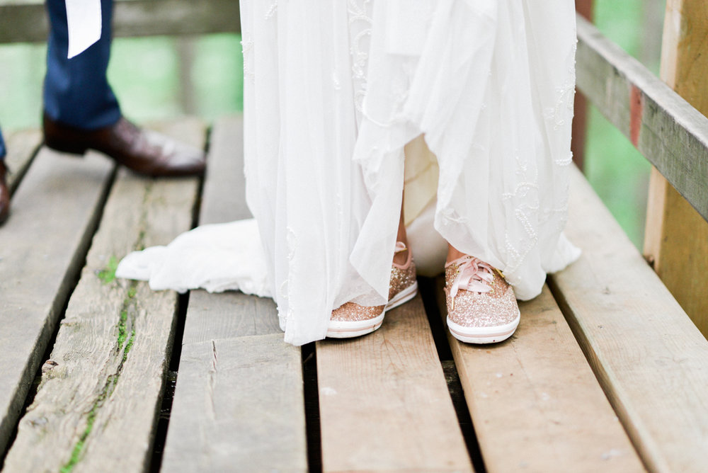 Sparkle wedding sneakers