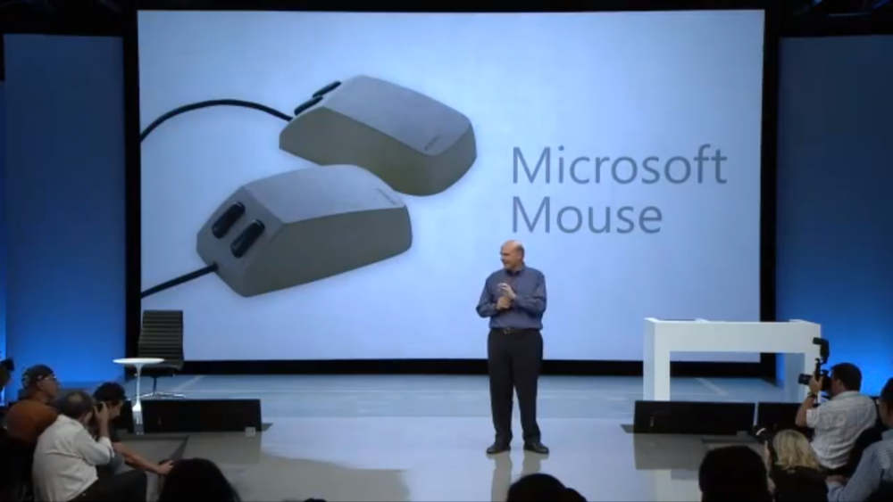 Steve Ballmer reviews Microsoft innovations before the Surface Introduction