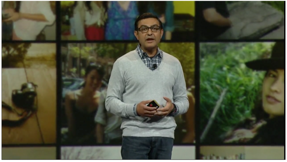 Vic Gundotra introduces Google+ Events during the Google IO Day 1 Keynote
