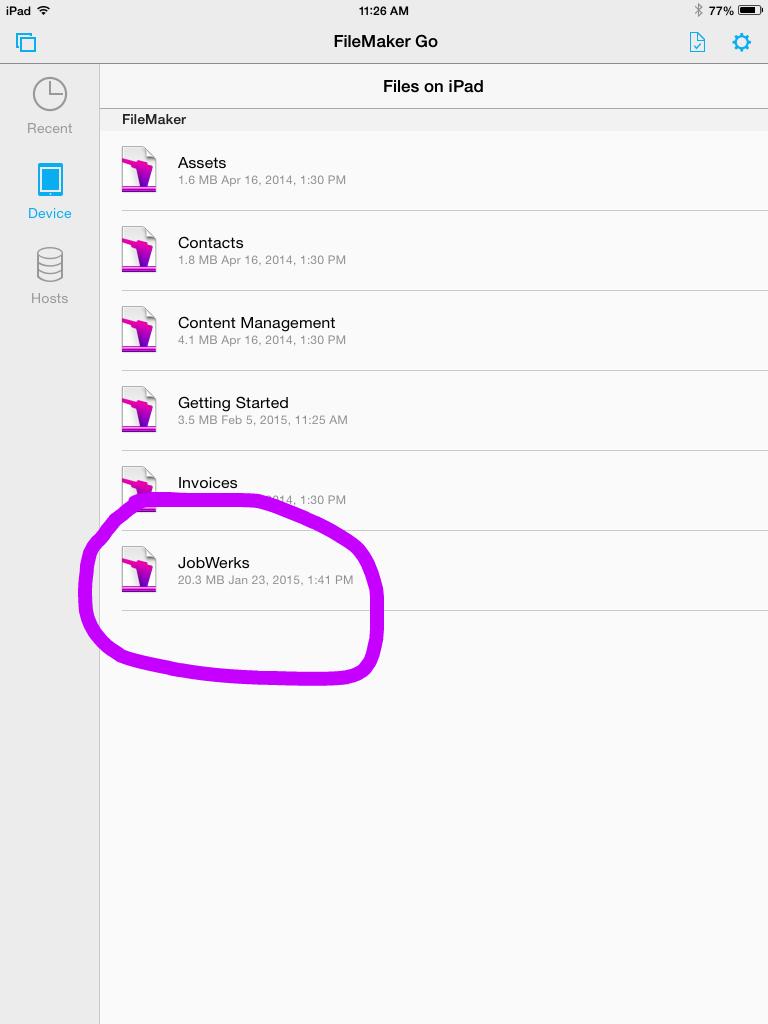 Screenshot 3Device Files