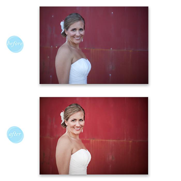 Bridal portrait retouch. (GCP)