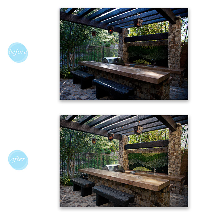 Retouch with clean-up and heavy color adjustment. (GCP)