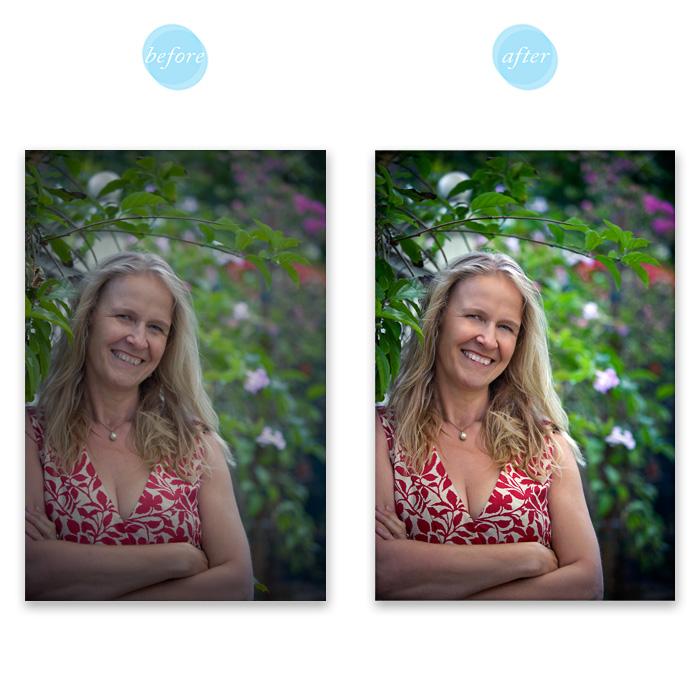 Professional headshot retouching. (Gillian Crane Photography)
