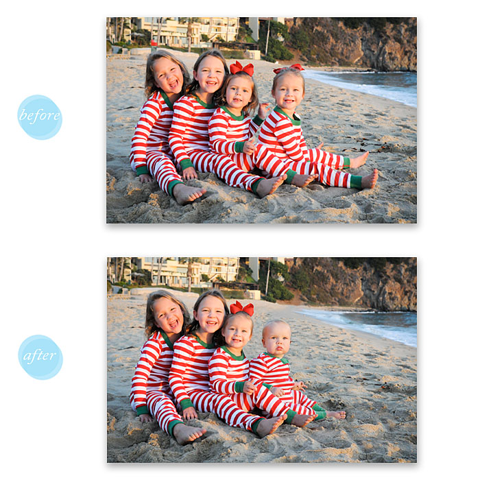 Photographer's client requested a different group of kids for a holiday card. Photo by Erika Rae Photography. (ERP)