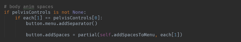 Reassigning the button class's addSpaces function to the torso's addSpacesToMenu function