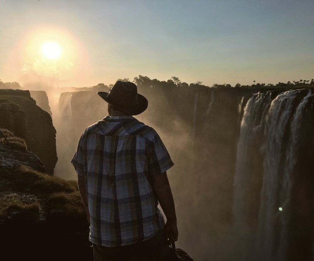 Channeling my best Indiana Jonen Victoria Falls,Zimbabwe