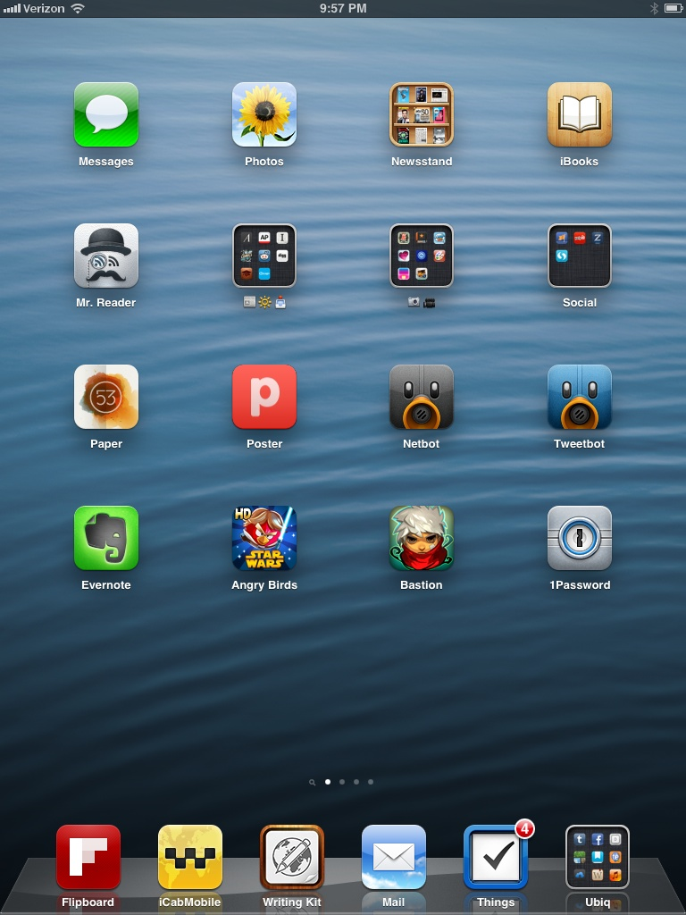 ipad home screen viewing gallery