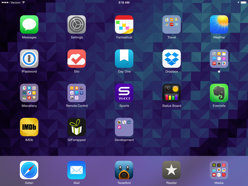 my current ipad home screen apps directories