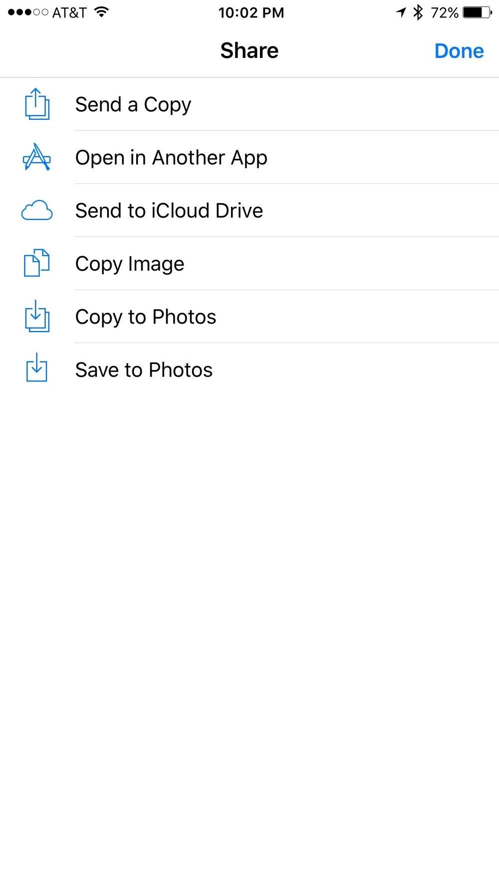 Saving to Photos