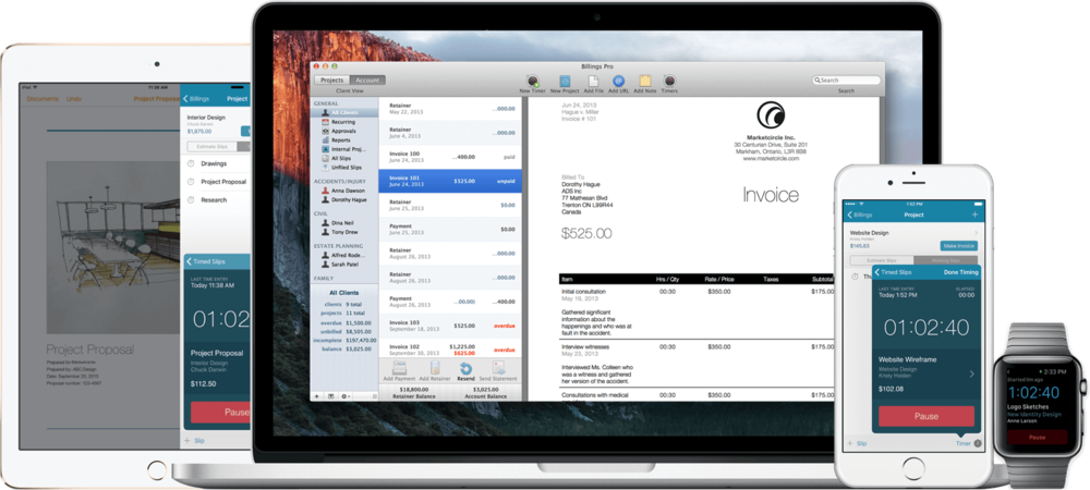 Sponsor Billings Pro MacSparky - Small business invoicing software for mac