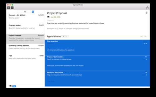 meeting agenda app