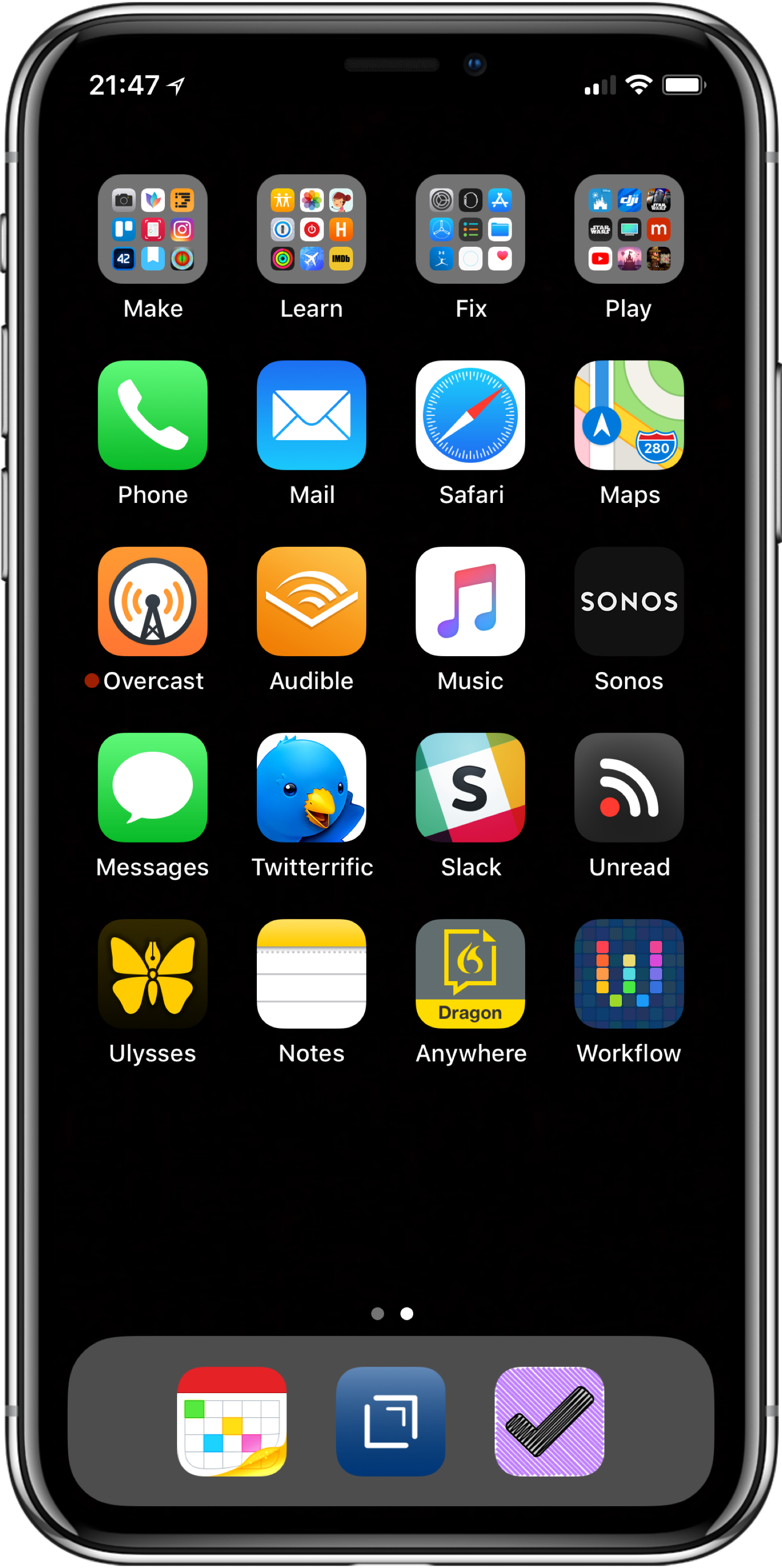 My iPhone Home Screen, 2018 Edition — MacSparky