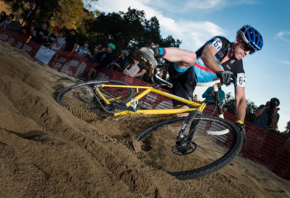 Falling off the bike in the sand pit-Lumix DMC-GX7, Olympus 12mm F2 lens, Lumopro Strobes