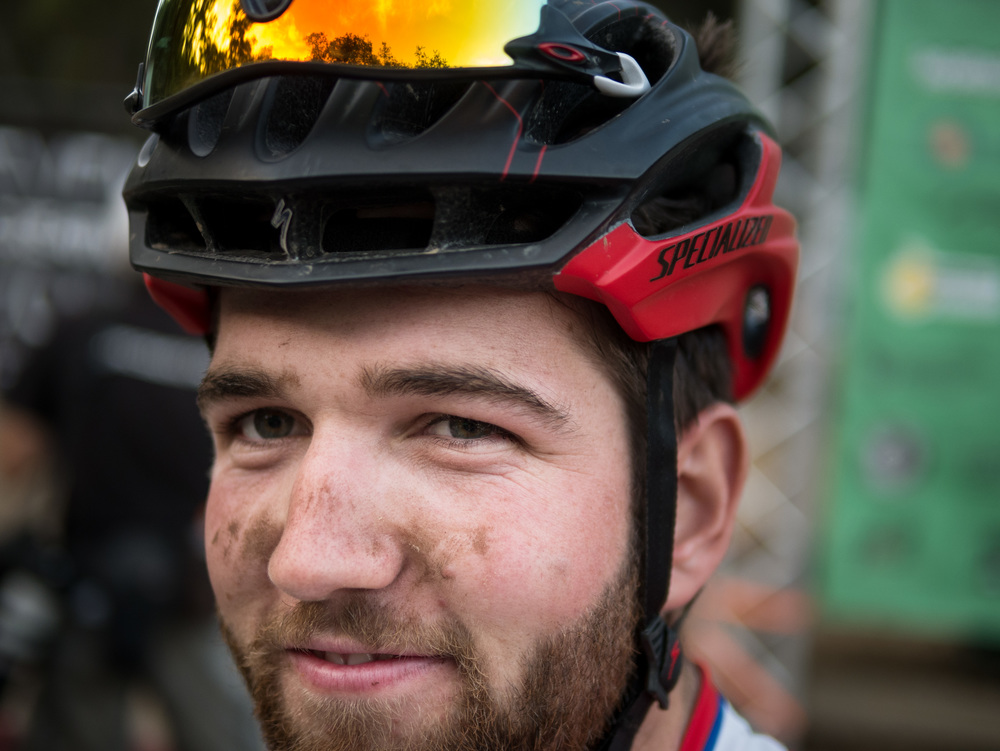Portrait of a cyclocross racer -Lumix DMC-GX7, Lumix 25mm f1.4 lens