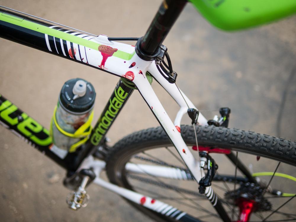 A bloody bike -Lumix DMC-GX7, Lumix 25mm f1.4 lens