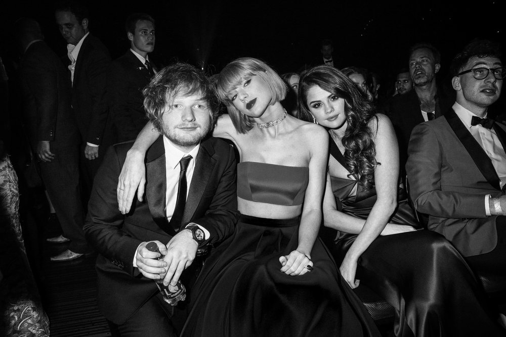 Ed Sheeran, Taylor Swift and Selena Gomez