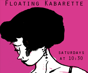 Our Flagship Show, Floating Kabarette has wowed tens of thousands over the past 5 years with its' weekly take on cabarets new and old, featuring unique lineups week after week, hand selected from our rotating cast of over 100 performers from New York and abroad. galapagosartspace.com
