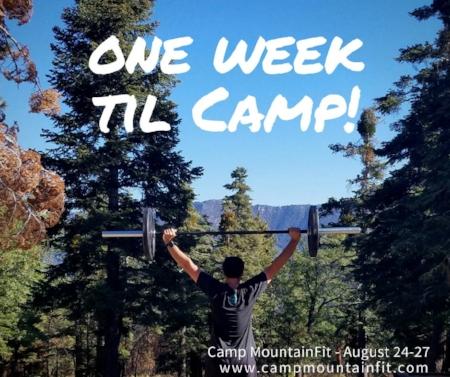 Forget ONE WEEK - we leave TOMORROW!