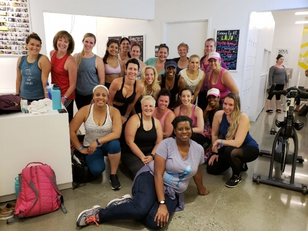 We survived our SoulCycle experience!               Photo Courtesy of Carleeh Mulholland