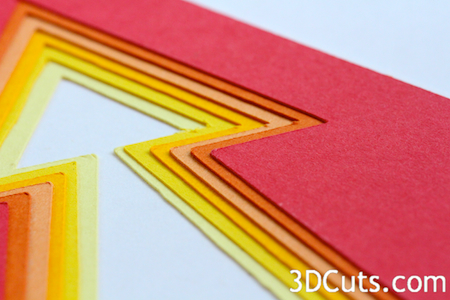 3DCuts.com, Marji Roy, 3D cutting files in .svg, .dxf, and pdf. formats for use with Silhouette and Cricut cutting machines, paper crafting files, nested arrow cards