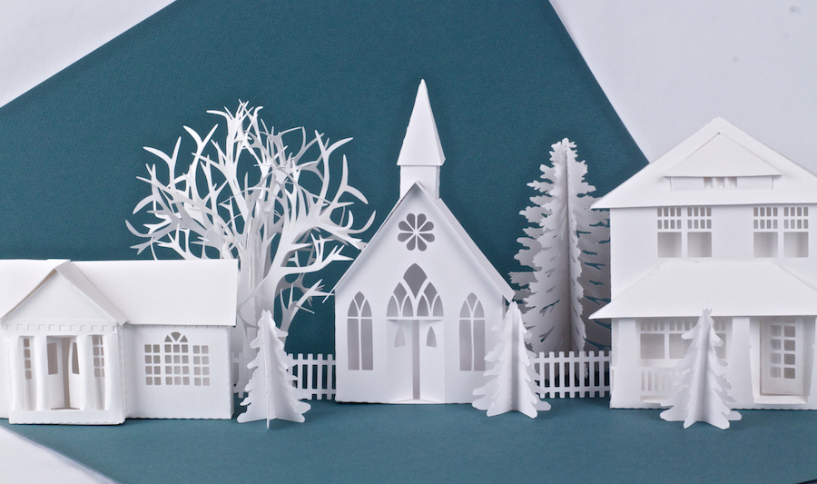 Ledge Village by Marji Roy 3DCuts.com