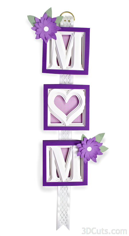 3DCuts.com, Marji Roy, 3D cutting files in .svg, .dxf, and pdf. formats for use with Silhouette and Cricut cutting machines, paper crafting files, alphabet shadow boxes, Mom