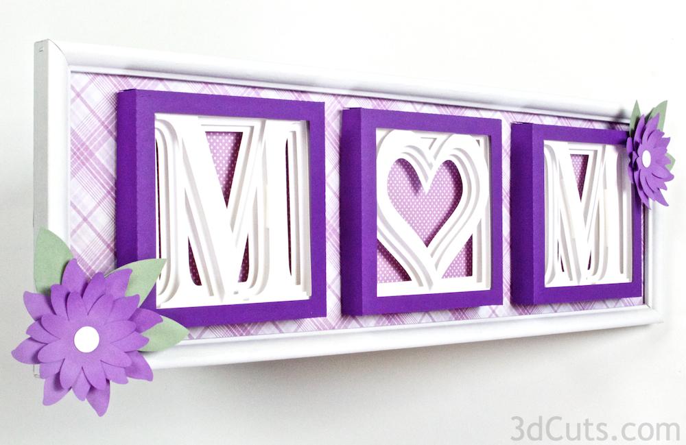 3DCuts.com Alphabet Shadow Boxes MOM