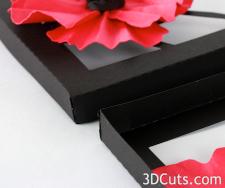 Tutorial Poppies Shadow Box 3dcuts Com