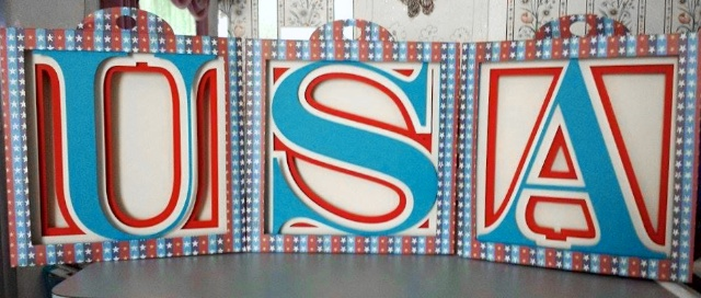 Alphabet Shadow Box by 3dcuts.com. USA by Pam McKithern