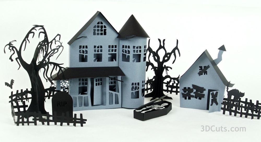 Haunted Ledge Village Series 3dcuts.com