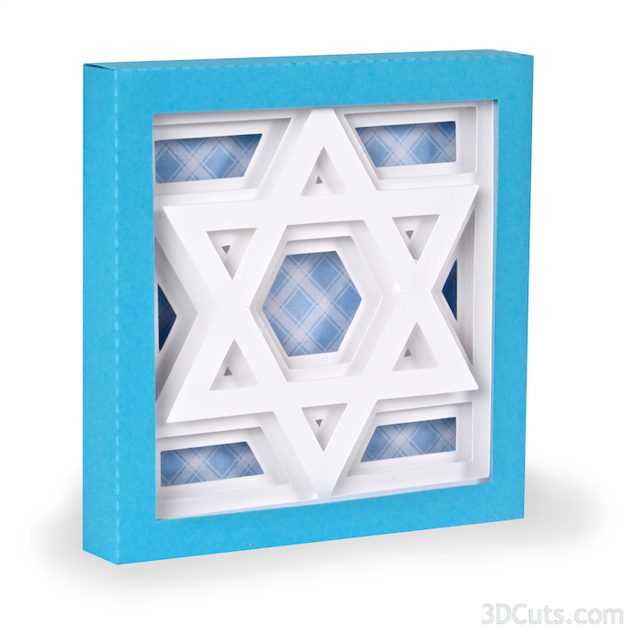 Star of David Paper cutting file by Marji Roy of 3dcuts.com. For use with Silhouette and Cricut cutting machines