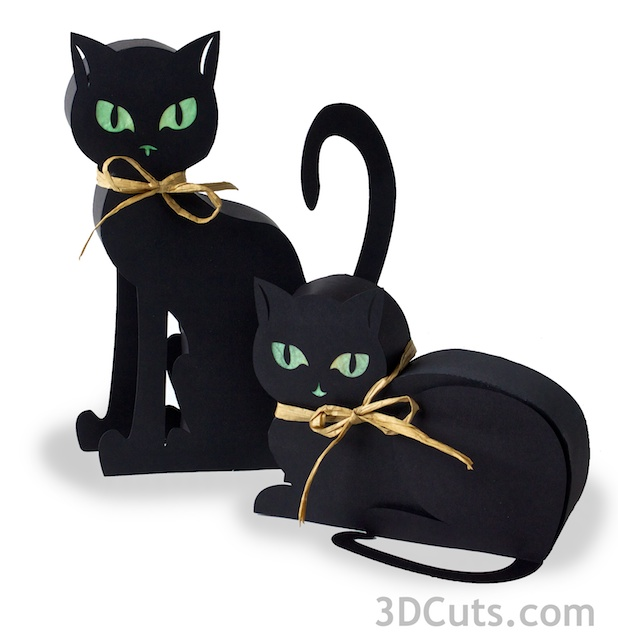Halloween Kitty Luminaires