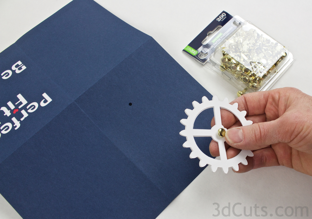 Working Gear Greeting Card designed by Marji Roy of 3dCuts.com  . For use with Cricut and Silhouette cutting machines. Tutorial included.