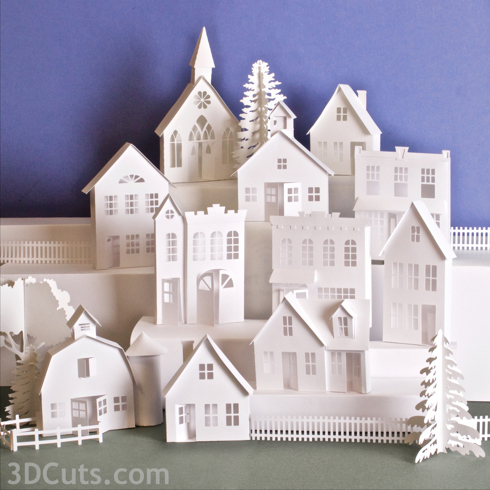 Also available is the entire set including 10 buildings, fences, and trees for $9.99.