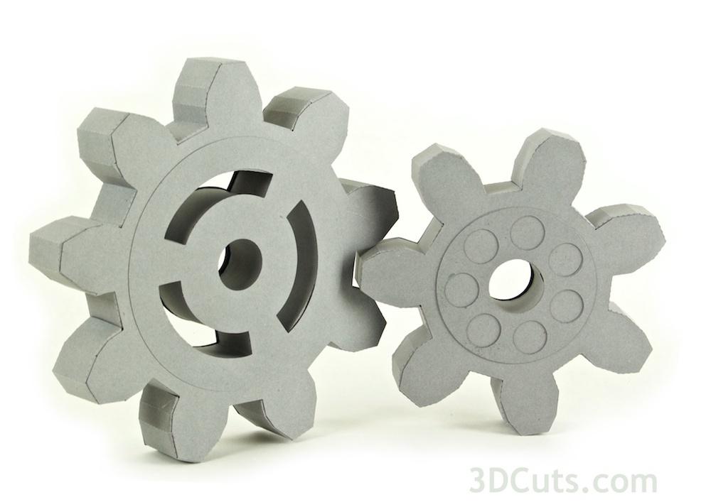 3d steampunk gears 2 styles 3dcuts com