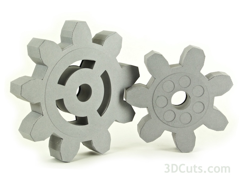 Steampunk Gears by 3dcuts