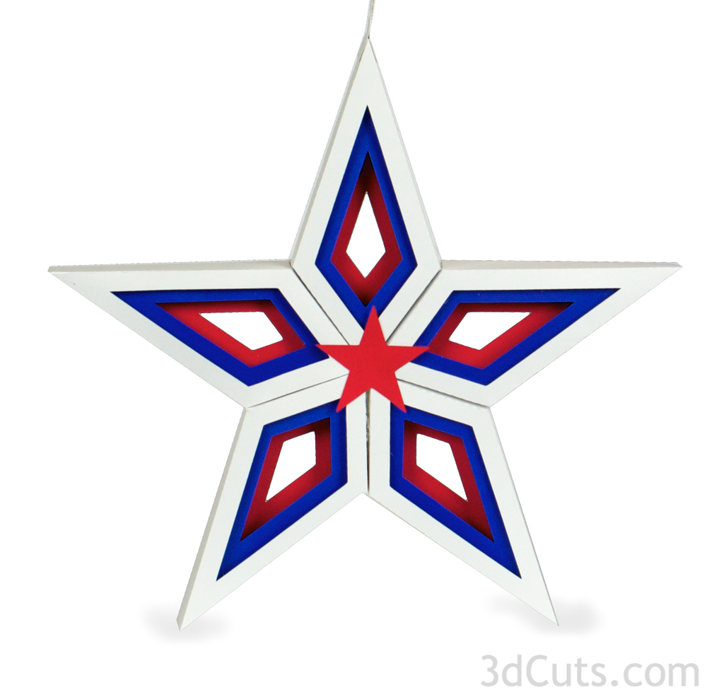 3d shadow box star by 3dcuts