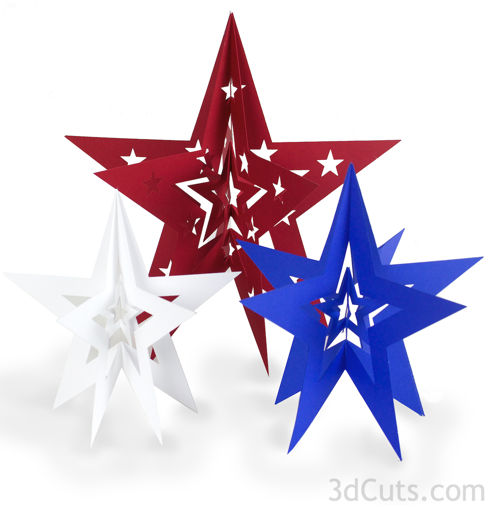 3d nested stars by 3dcuts.com