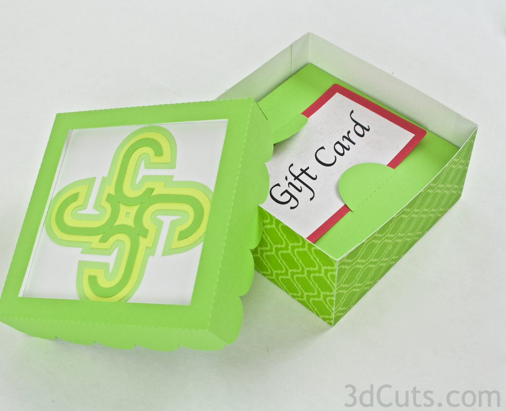 Monogram Boxes by 3dcuts.com SVG cutting files for Silhouette and Cricut