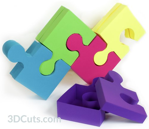 3D Puzzle Box In Card Stock By Marji Roy Of 3dcuts SVG